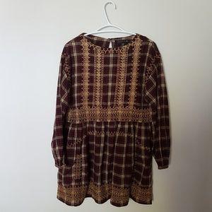 Zara Woman Peasant Style Blouse Size S